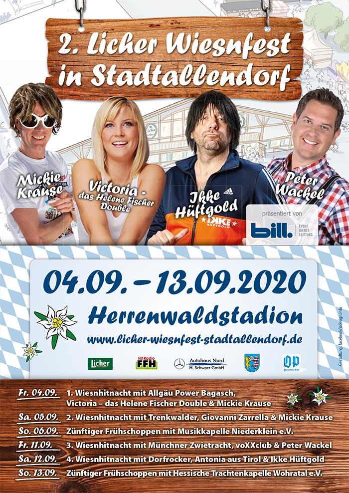 Plakat - Licher Wiesnfest Stadtallendorf 2019